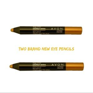 Avon Two Big Color Eye Pencils Sunkissed Gold New